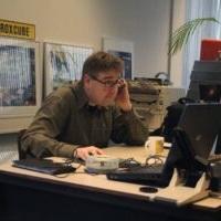 Patrick Duis hard aan het werk